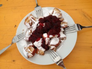 Powdered sugar deliciousness at the Ernte Dank festival we stumbled on in Vienna