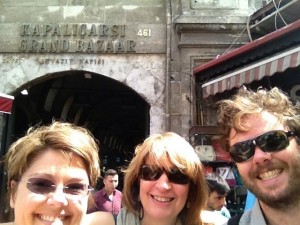 Jen, Sandy, Robin at the entrance to the Grand Bazaar.